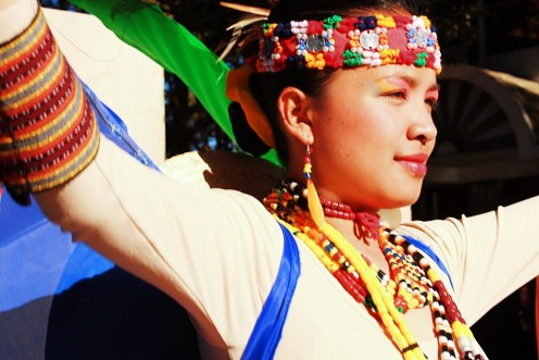 A Lady in Panagbenga Festival Clothed in Tribal Ifugao Costume
