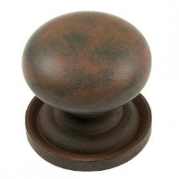 Rust finished with a backplate, this knob is good for a vintage farmhouse or victorian look.