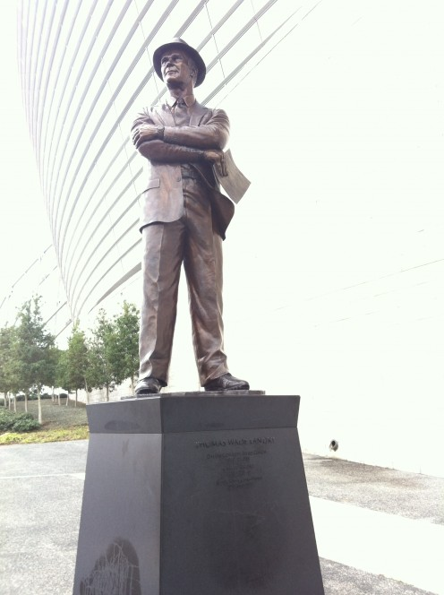 Statue of Tom Landry outside Cowboys Stadium