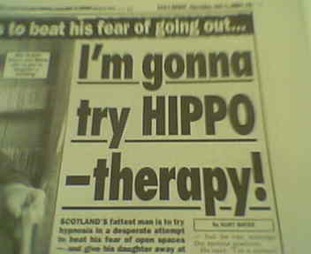 Make sure the sign says 'Hypnotherapy'.