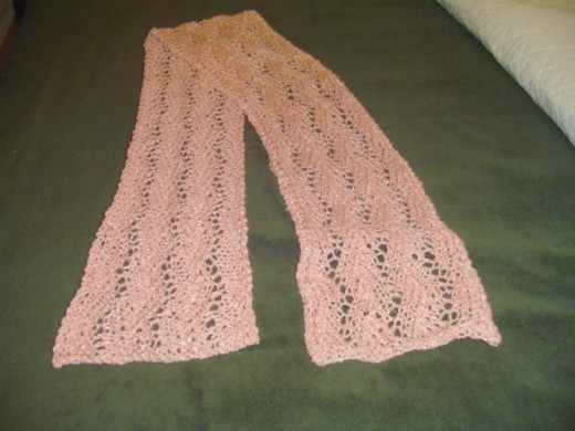 Hand knitted sparkle scarf