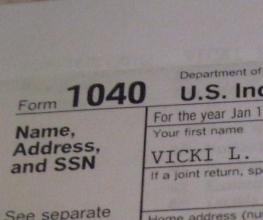 Form 1040 includes itemized deductions.