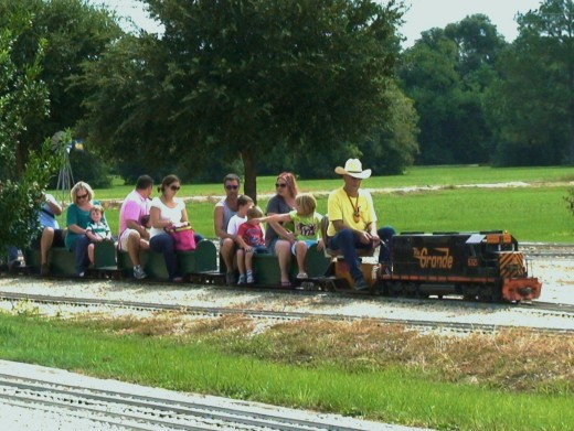 Train ride in a local park