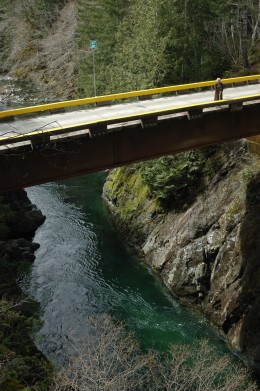 Lower end of Harris Canyon - between Lake Cowichan and Port Renfrew