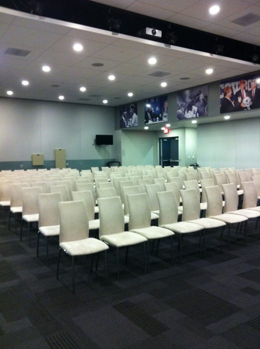 Press room near Cowboys Locker Room