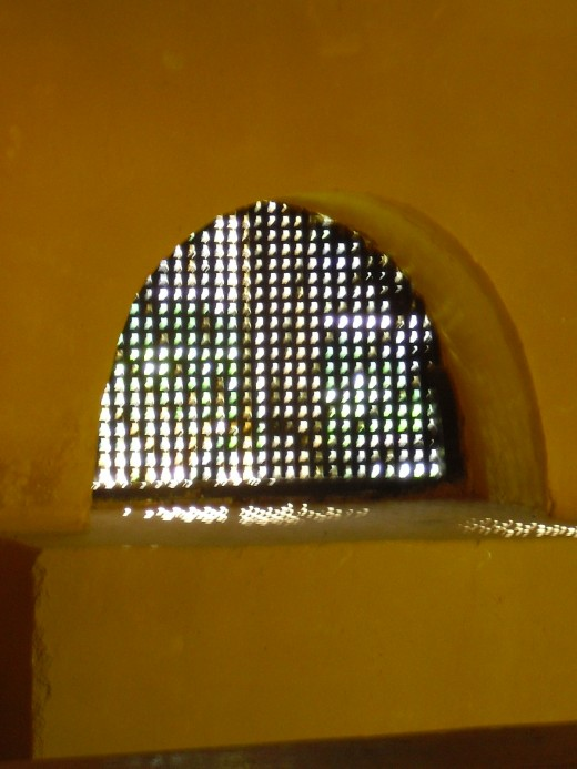 This is the window that was used to pass food to the slaves, at the Finca Pedro Alejandrina in Sta. Marta, where Simon Bolivar died.