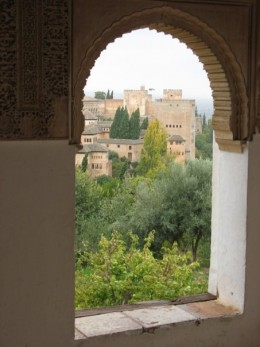 Window in the Alhambra, Granada Spain