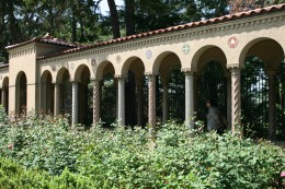 Rosary Portico from grounds
