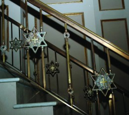 Star of David are imbedded in the railings, another reminder of the Judaic roots of Christianity.