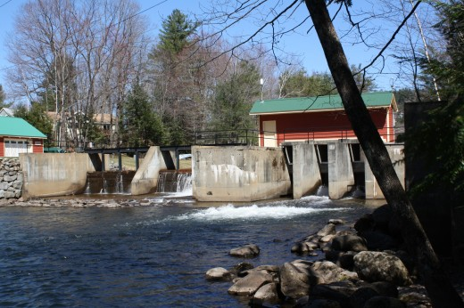 Here is the Dam Pool on the Pasquaney River in Belchertown, New Hampshire, where Liam and his family fished for landlocked salmon.