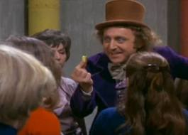 Willy Wonka in his chocolate factory, was not unlike a drug dealer, offers the children an everlasting gobstopper