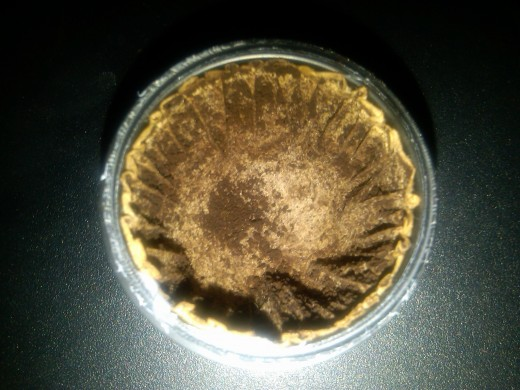 The inside of an empty K Cup
