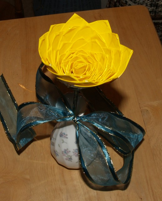 This rose contains 50 petals, one for each of the articles the author has published on HubPages.