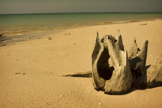 Sand in Santa Lucia Beach, Camaguey, Cuba