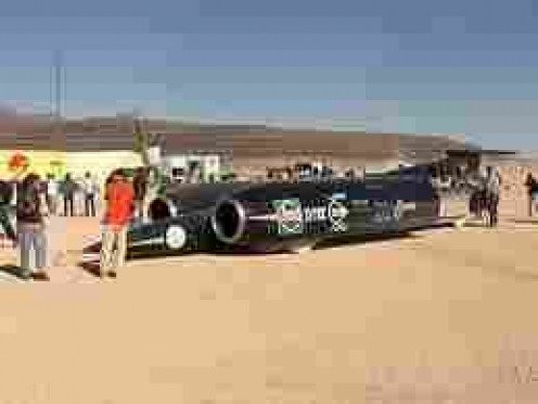 British Thrust SSC First car to break sound barrier (twice)