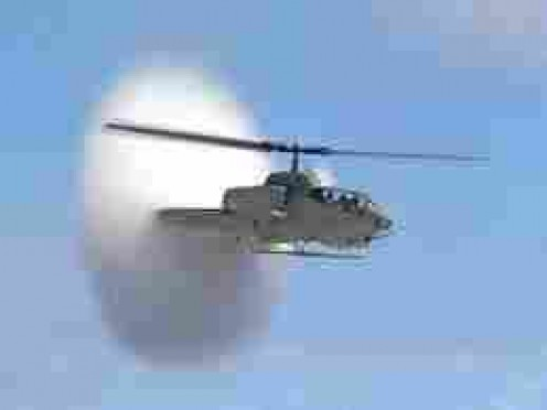 Even a Cobra Helicopter can break sound barrier now