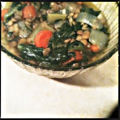 Healthy and Hearty Vegetable Lentil Soup with Ginger