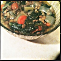 A healthy and hearty vegetable alternative recipe for lentil soup