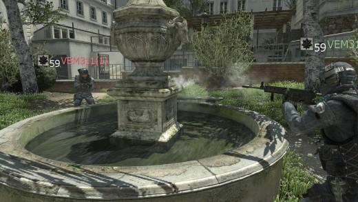 poured concrete fountain: NO PENETRATION ~ realistic