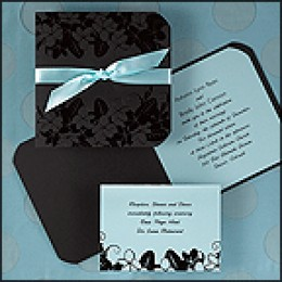 Black and Aqua Folder Invitation