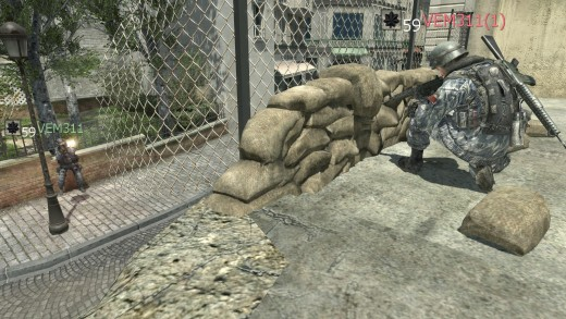 one layer of sandbags: NO PENETRATION ~ realistic