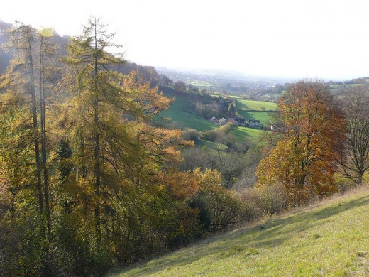 The Slad valley in Gloucestershire where Laurie Lee's village is situated.