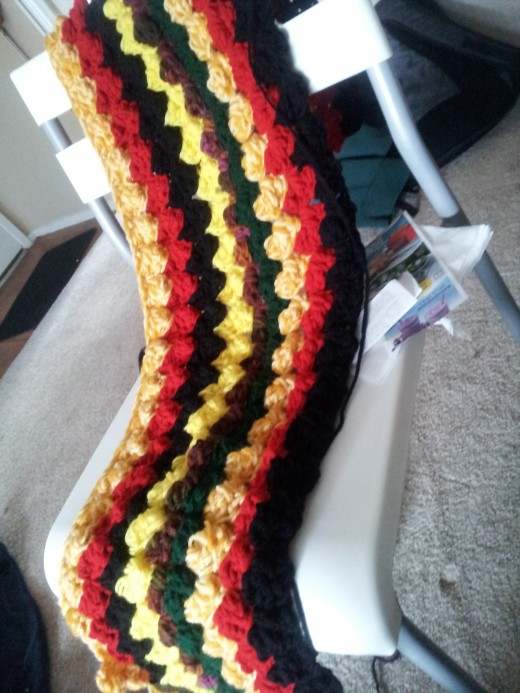 my first puff stitch project