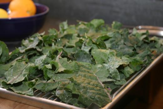 Kale before baking