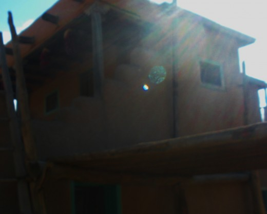 Taos Pueblo 9.00 a.m., cold and as clear as a bell. 1200 years old; and full of spirit.