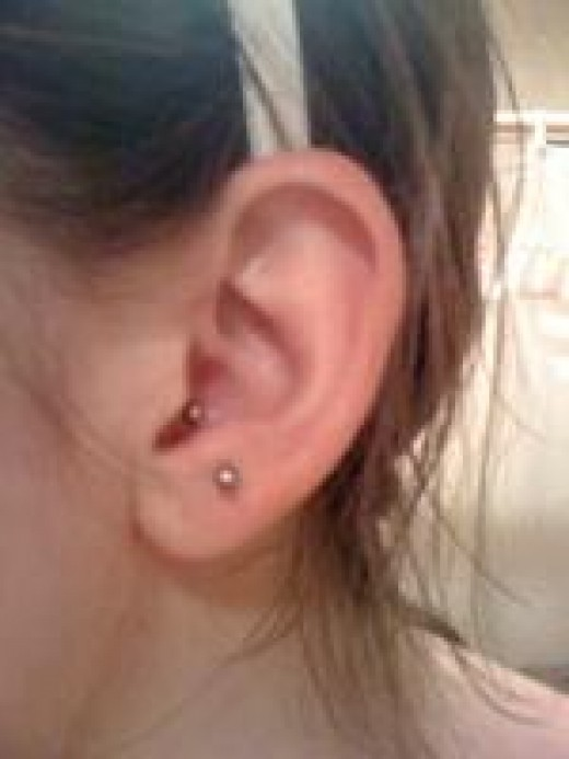 The anti tragus piercing
