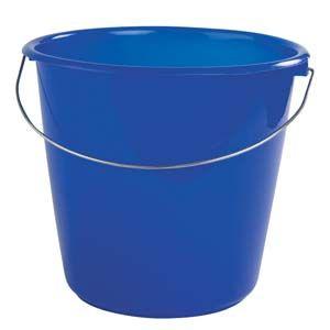 A blue bucket