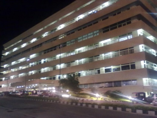 Thejaswini Building at Night