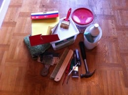 Tools you need for wallpapering a room!