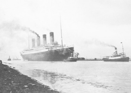 R.M.S. Titanic sailing through Belfast on her sea-trials