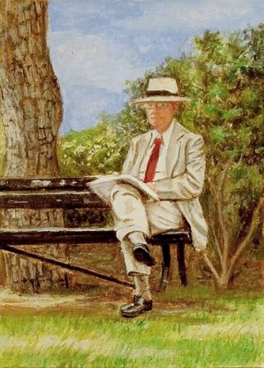 He sat in the Park on his Bench