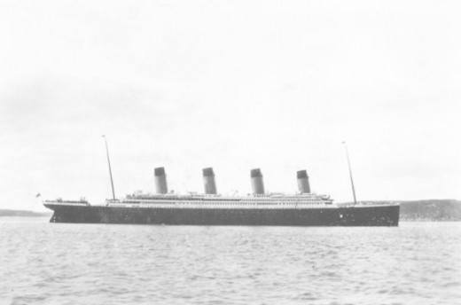 R.M.S Titanic arriving at Queenstown, Ireland