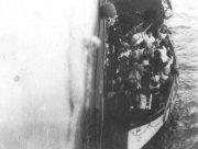 R.M.S Titanic lifeboat alongside R.M.S Carpathia