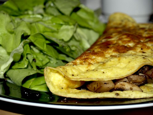 An Omelet Filled with Meat