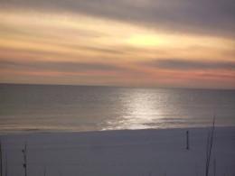 Sunset On The Beach In Destin Florida