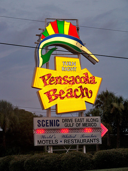 Pensacola Beach Sign.