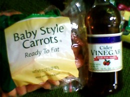 Carrots and apple cider vinegar fight acne.