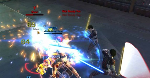 SWTOR Defeat Zeer - Observe the jedi sentinel skills Zealous Strike at work here.