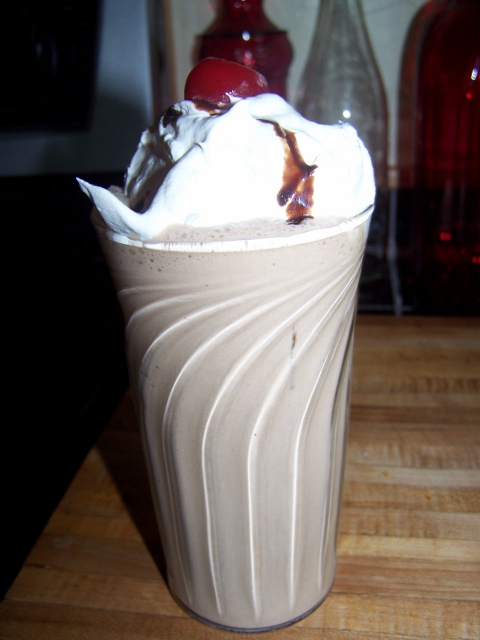 My Frosty Chocolate Cherry Shake Recipe.