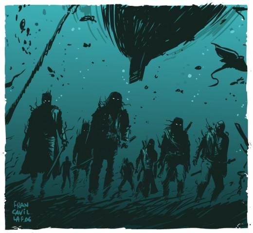 Zombies don't swim