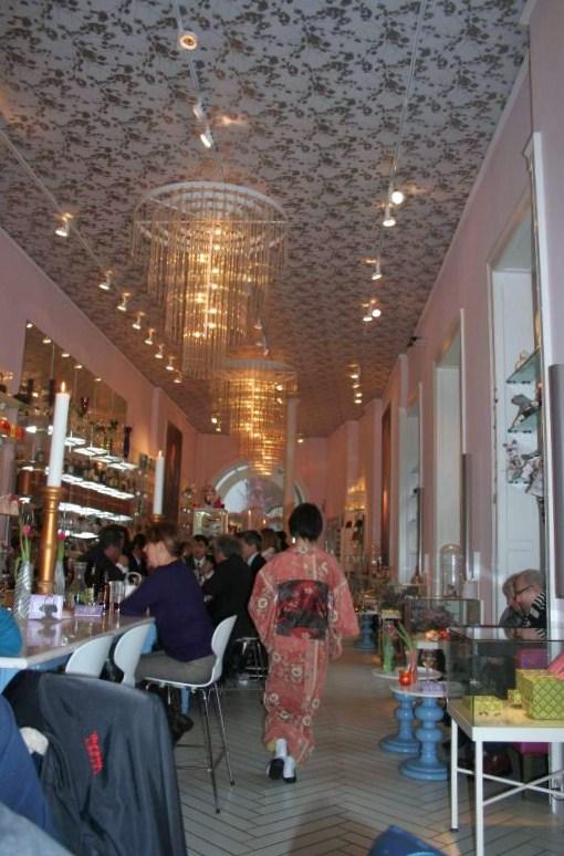 Stylish Interior of the Royal Cafe