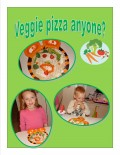 Cooking With Kids:  Easy, No Bake Veggie Pizza Recipe