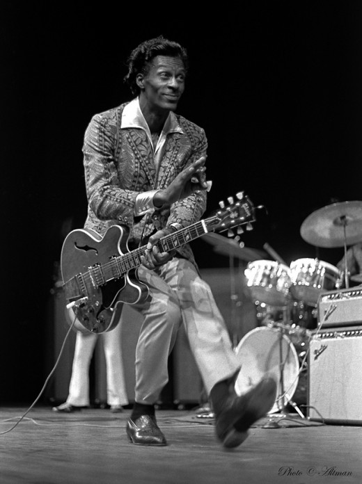 The father of rock 'n' roll, Chuck Berry