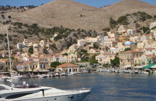 The harbor of Symi island