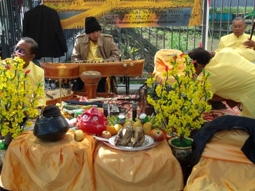 This is a Khmer musical instrument which was also shown and held during the Khmer New year.