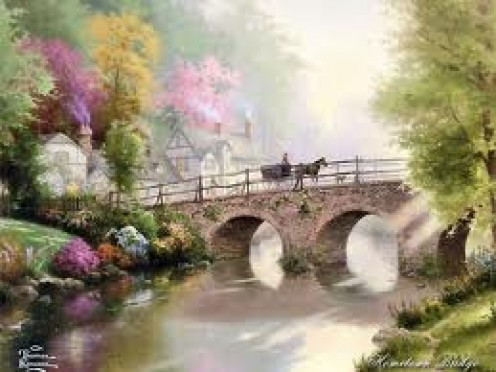 """Thomas Kinkade"" Depicts yesteryear"
